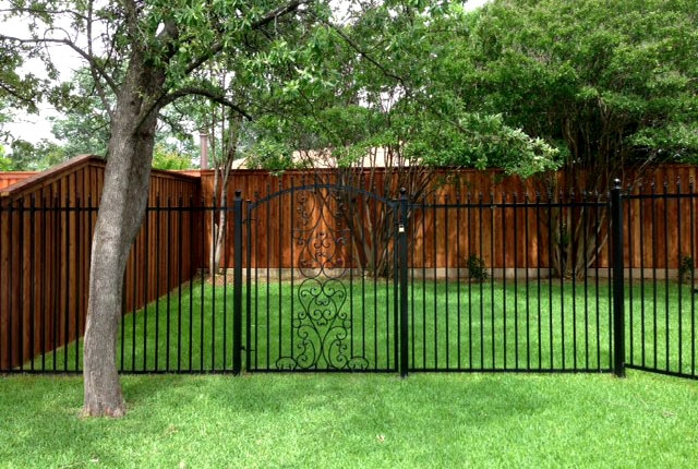 Ornamental Iron Fence with a Gate