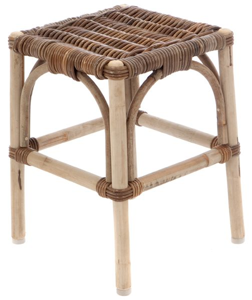 Rattan Hocker Grau