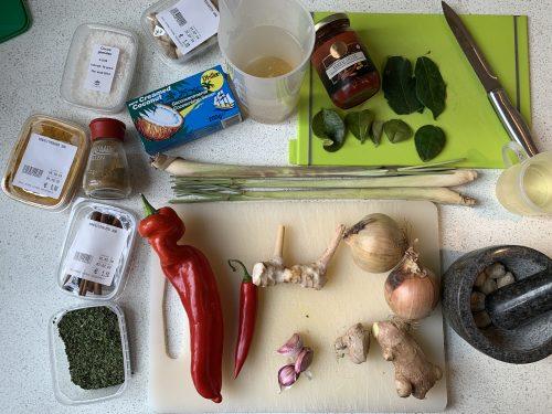 ingredienten daging rendang