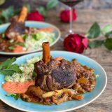 Gestoofde lamsschenkel met Marokkaanse couscous