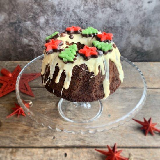 Gingerbread tulband met kerstversiering