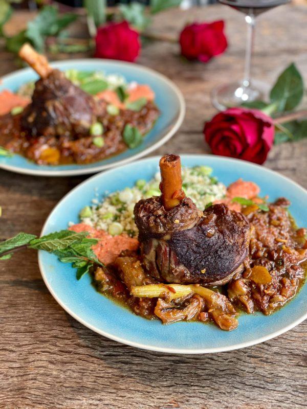 Lamsschenkel met Marokkaanse couscous