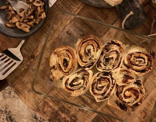 Pizza rolls met truffel