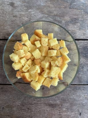 Trifle met nectarines