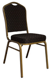 chair cover rentals dallas texas airbag office prank chairs tables linens covers aa party and tent crown back black fabric w gold dot upholstered banquet conference indoor use only 3 50 per day delivery item call store for pick