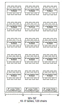 Tent Layouts & Seating Capacity Chart  AA Party and ...