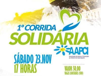 1ª Corrida Solidária AAPCI – Participe! Pratique esporte praticando o bem!