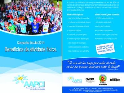CAMPANHA ESCOLAR 2014 – Benefícios da Atividade Física.