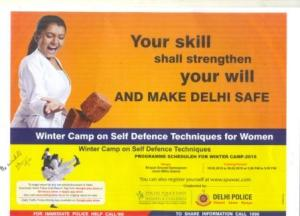 """10-day winter camp on """"Self Defence Techniques for Women"""" at Jamia"""
