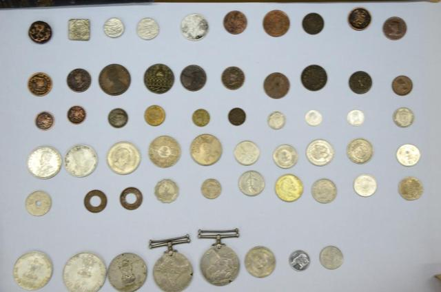 The collection of coins and other artifacts donated by Dr. SM Javed