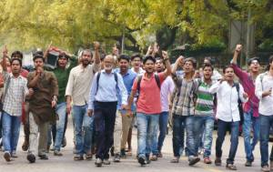 DUTA hold Chakka Jam in DU Campus to demand Immediate Removal of DU VC