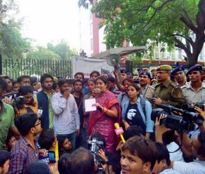 Occupy UGC: Students march to HRD ministry in protest