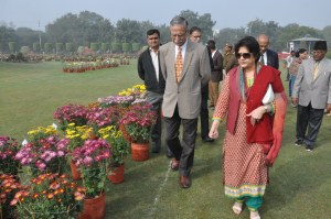 The annual flower show organized by Aligarh Muslim University