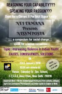 NEI TAMANA presents NTSYMPOSIA , a bilingual symposium for social change.