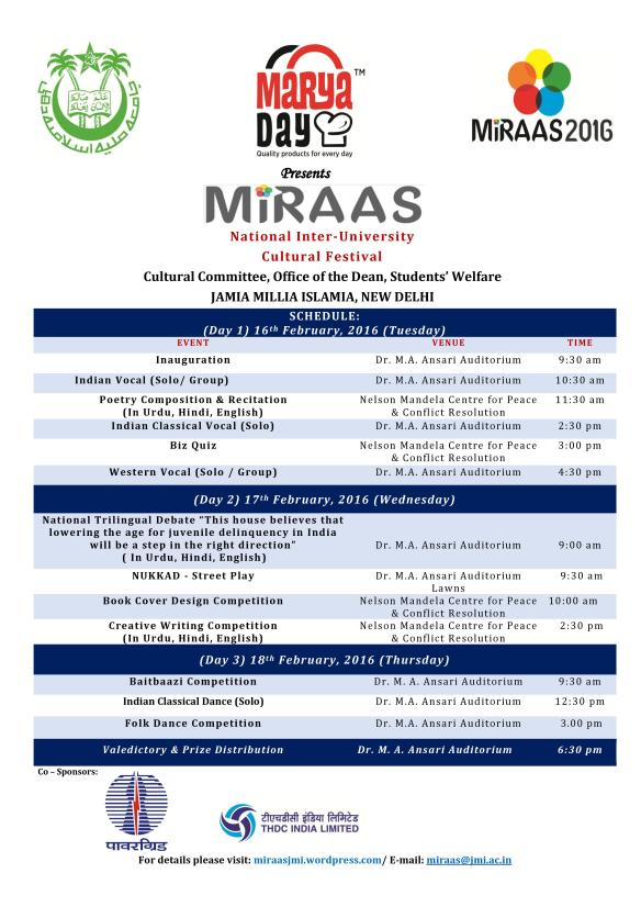 Schedule of Miraas
