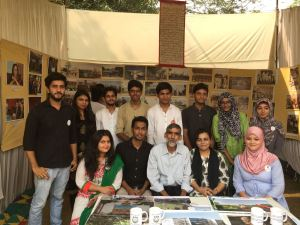 Talimi Mela: Students shows the Jamia through the Ages in a single stall