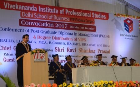 VIPS convocation: Build your own path in life to achieve success says Suresh Narayanan