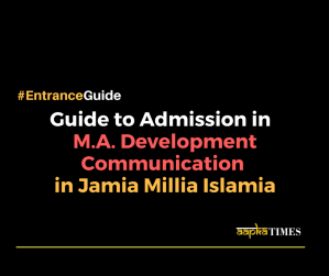 Guide to admission in M.A. Development Communication in Jamia Millia Islamia