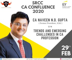 SRCC-Wings of Fire are back with the fourth edition of SRCC CA Confluence'20, the biggest celebration of Chartered Accountancy