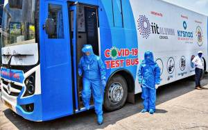 IIT Alumnus launch first Indian COVID-19 test bus