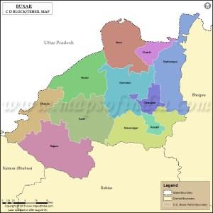 buxar-tehsil-map