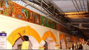 मधुबनी के बाद अब सहरसा रेलवे स्टेशन के दीवारों को मिथिला पेंटिंग से सजाया जा रहा है