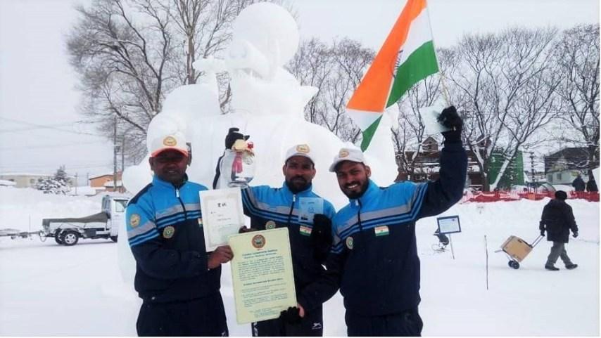 Ravi Prakash, Sculpture, Bihari Sculpture, Internationa Snow sculpture competition, Japan, India