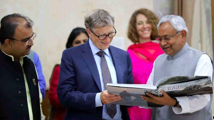 Nitish Kumar, Bill Gates, Bill and Millinda Gates Foundation