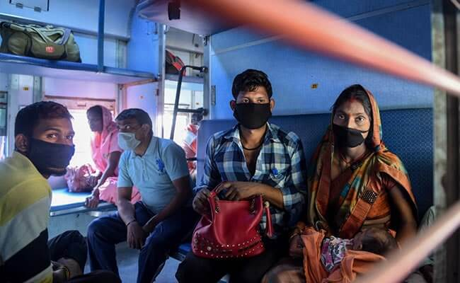 Migrant workers on shramik special train