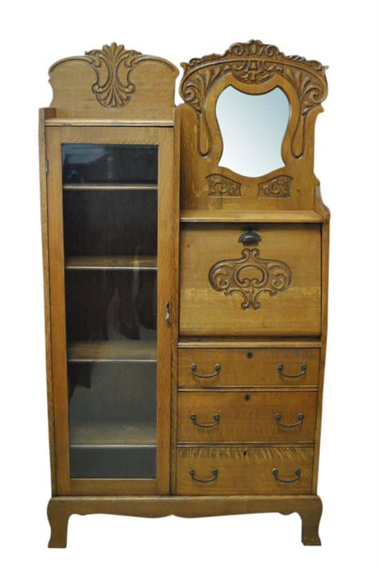 Antique Secretary Side Side