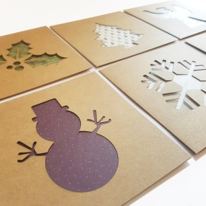 Laser Cut Christmas Cards – Pack of 6 – Aardwolf Design