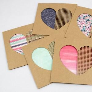 Dot Dot Heart Handmade Valentines Day Card – Aardwolf Design Copyright