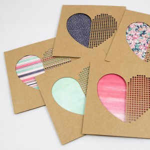 Dot Dot Heart Handmade Valentines Day Card – Aardwolf Design Copyright