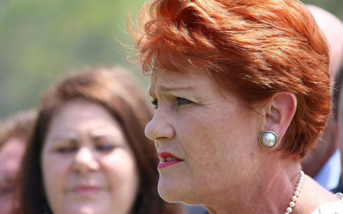 Photo of Pauline Hanson because her comments prompted a school developed response