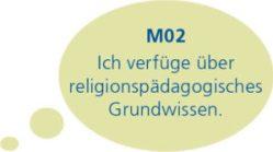 M02: Ich verfüge über religionspäadagogisches Grundwissen.