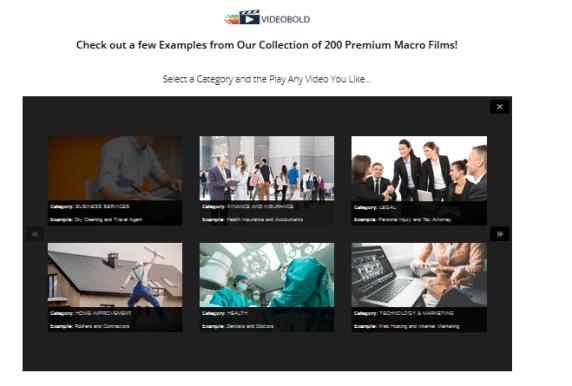VideoBold Collection of 200 Premium Macro Films