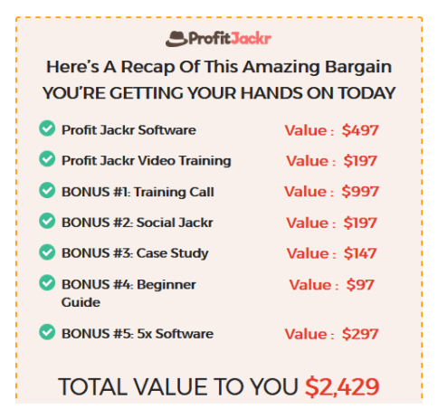 ProfitJackr Pro Launch Software By Billy Darr Video training