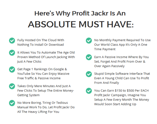 Why Should You Get ProfitJackr Pro Launch Software By Billy Darr