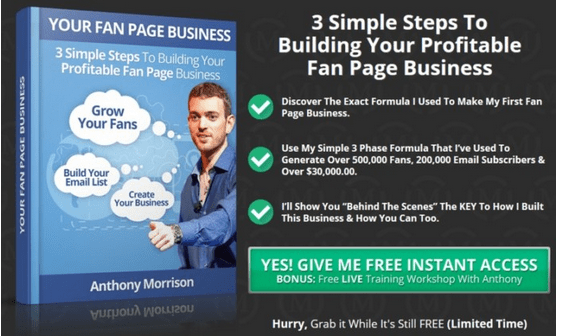 Fan Page Domination Training By Anthony Morrison Features