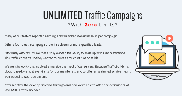 TrafficBuilder Unlimited Upgrade OTO Upsell