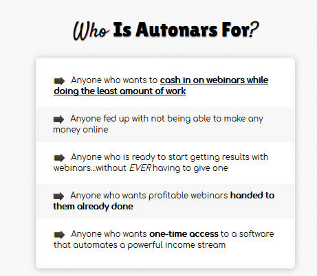 Autonars Webinar Software by Brett Rutecky Discount