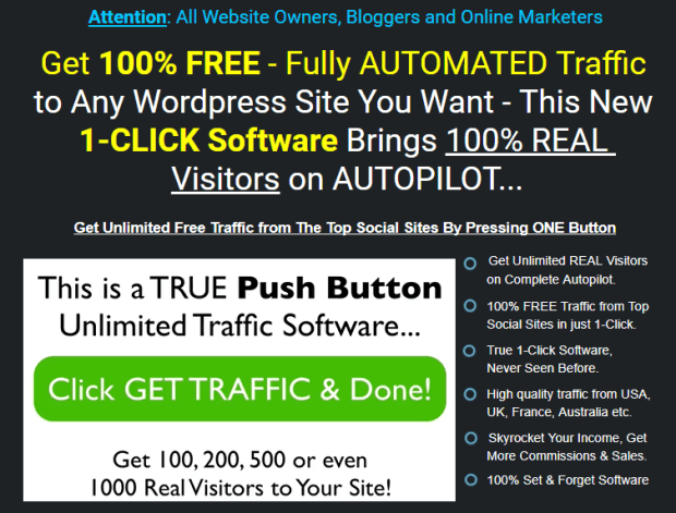 WP 1-Click Traffic By Ankur Shukla Launch
