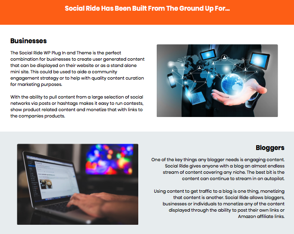 Social Ride Software By Sam Robinson Features