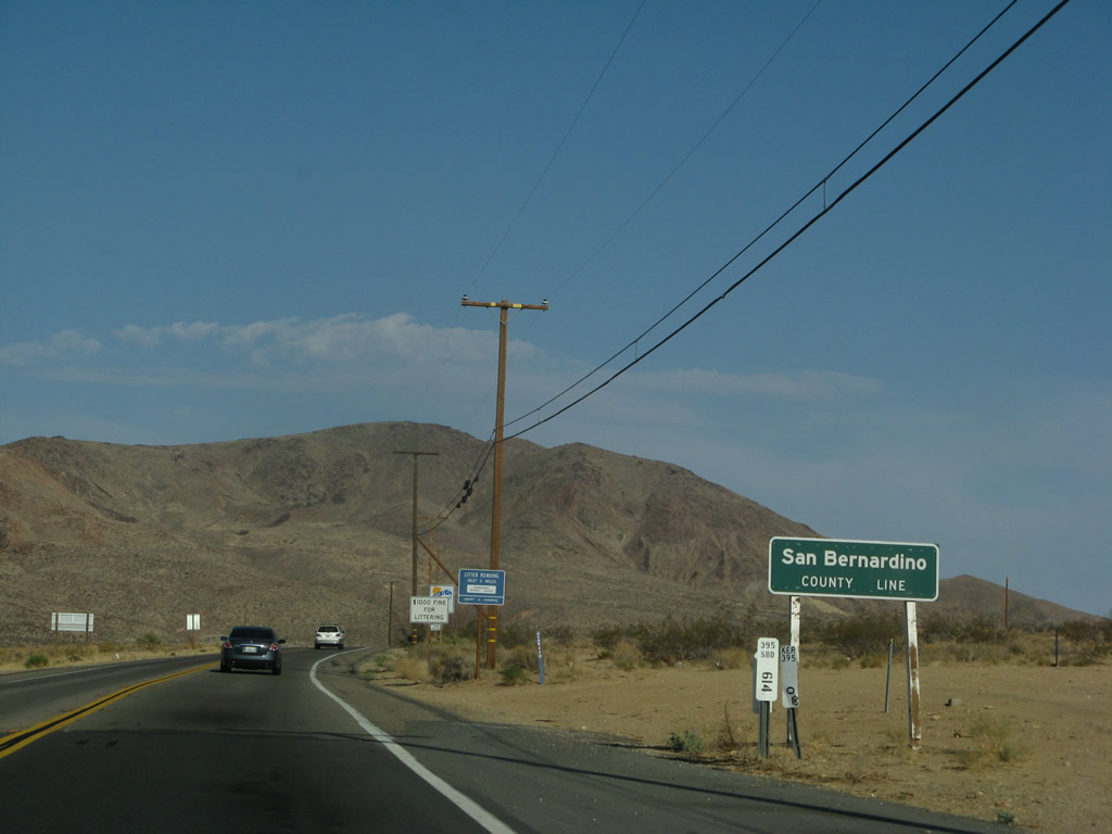 California  AARoads  US 395 South  San Bernardino County 1