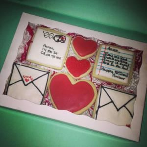 Love Letter Cookies gift box for valentines day