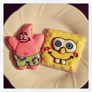 Patrick and Spongebob Cookies