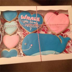 Whale you be my valentine Cookies