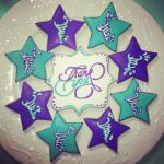 Twisters Gymnastics Decorated Sugar Cookie Cedar Rapids IA