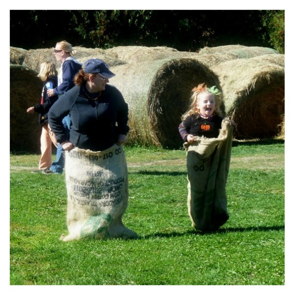 Pumpkin Patch Pizzazz Sack Race