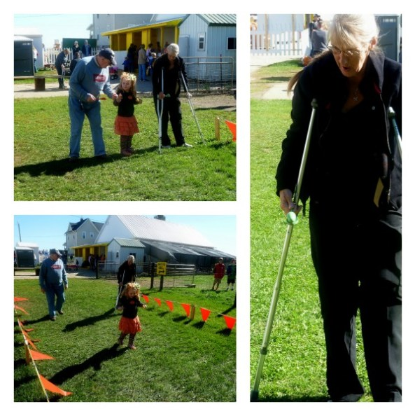Pumpkin Patch Pizzazz Spoon Race On Crutches